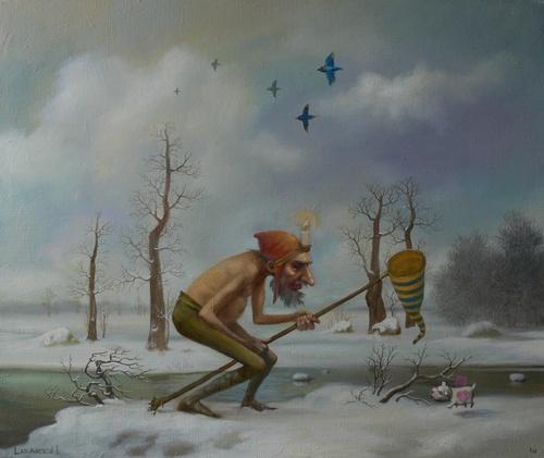 Старый Новый год - картина И.А.Лазарева