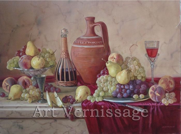 натюрморт с вином: